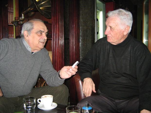 Miša Rajković (desno) sa našim novinarom