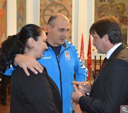 Ljiljana Knezevic, selektor Sasa Boskovic i gradonacelnik Bratislav gasic